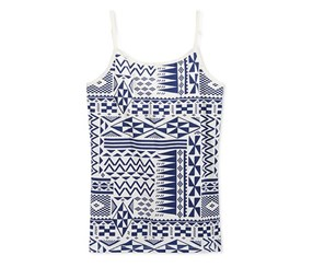 Epic Threads Geo-Print Shelf Camisole, Blue Print