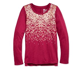 Girls' Graphic-Print T-Shirt, Beet Red