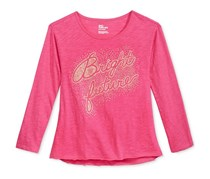 Epic Threads Long Sleeve Graphic T-Shirt, Pink Yarrow