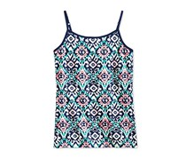 Epic Threads Mosaic-Print Cami Tops,  Medieval Blue