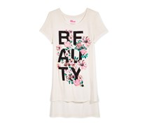 Epic Threads Girls Beauty Graphic-Print T-Shirt, Holiday Ivory