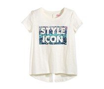 Epic Threads Style Icon Split-Back Graphic-Print T-Shirt, Holiday Ivory