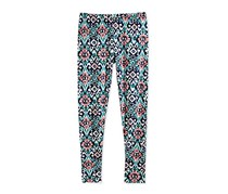 Epic Threads Mosaic-Print Leggings, Medieval Blue