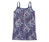 Kids Girls Bandana-Print Camisole Top, Medieval Blue