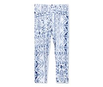 Epic Threads Girl's Printed Capri Leggings, Bright White