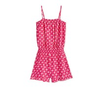 Epic Threads Diamond-Print Romper, Radiant Rose