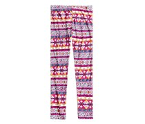 Epic Threads Pattern Striped Leggings, Holiday Ivory/Pink/Yellow