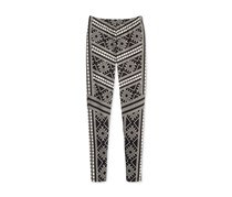 Epic Threads Geo-Print Leggings, Deep Black