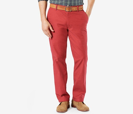 Men's Classic-Fit Pacific Wash Khaki Pants, Sutton Red