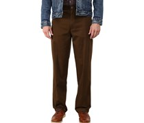 Dockers D4 Relaxed Fit Comfort Khaki Flat Front Pants, Lumber