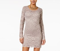 Jump Juniors Open-Back Lace Bodycon Dress, Taupe