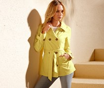 Women's Short Trenchcoat, Lime