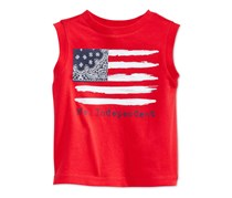 Baby Boys Mr. Independent Flag Tee, Infra Red