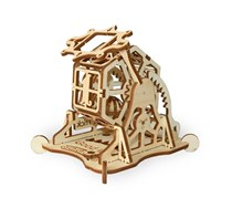 Wood Trick Wheel Of Fortune Roulette Raffle Mechanical 3d Wooden Model Puzzle, Beige