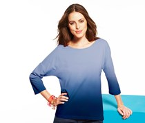 Women's Shirt, Gradient, blue