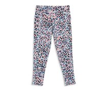 Jessica Simpson Ellie Printed Twill Leggings, Light Blue/Purple/Peach