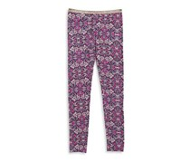Jessica Simpson Glimmer And Print Leggings, Pink Combo