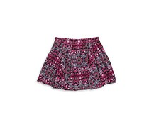 Jessica Simpson Selena Pleated Mosaic Skirt, Rasberry