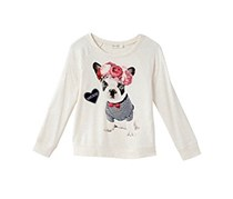 Jessica Simpson Graphic Print Big Girls, Oatmeal