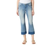 Vintage America Womens Celia Crop Denim Capris, Blue