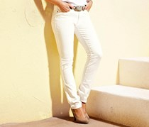 Women's Slim Fit Jeans, Cream