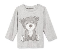 First Impressions Baby Boys Long-Sleeve Graphic-Print  T-Shirt, Slate Heather