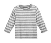 Baby Boys Long-Sleeve Striped, Pewter Heather