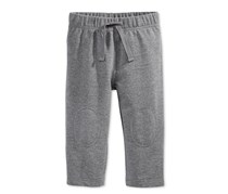 First Impressions Pull-On Knit Pants, Pewter Heather