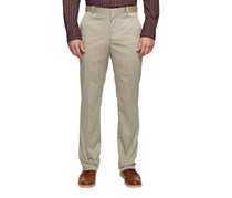 Men's Stretch Heather Twill Dress Pants, Natural