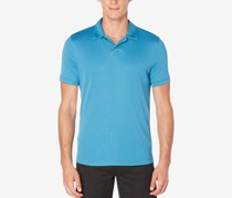Perry Ellis Men's Big & Tall Buttonless Performance Polo, Faience