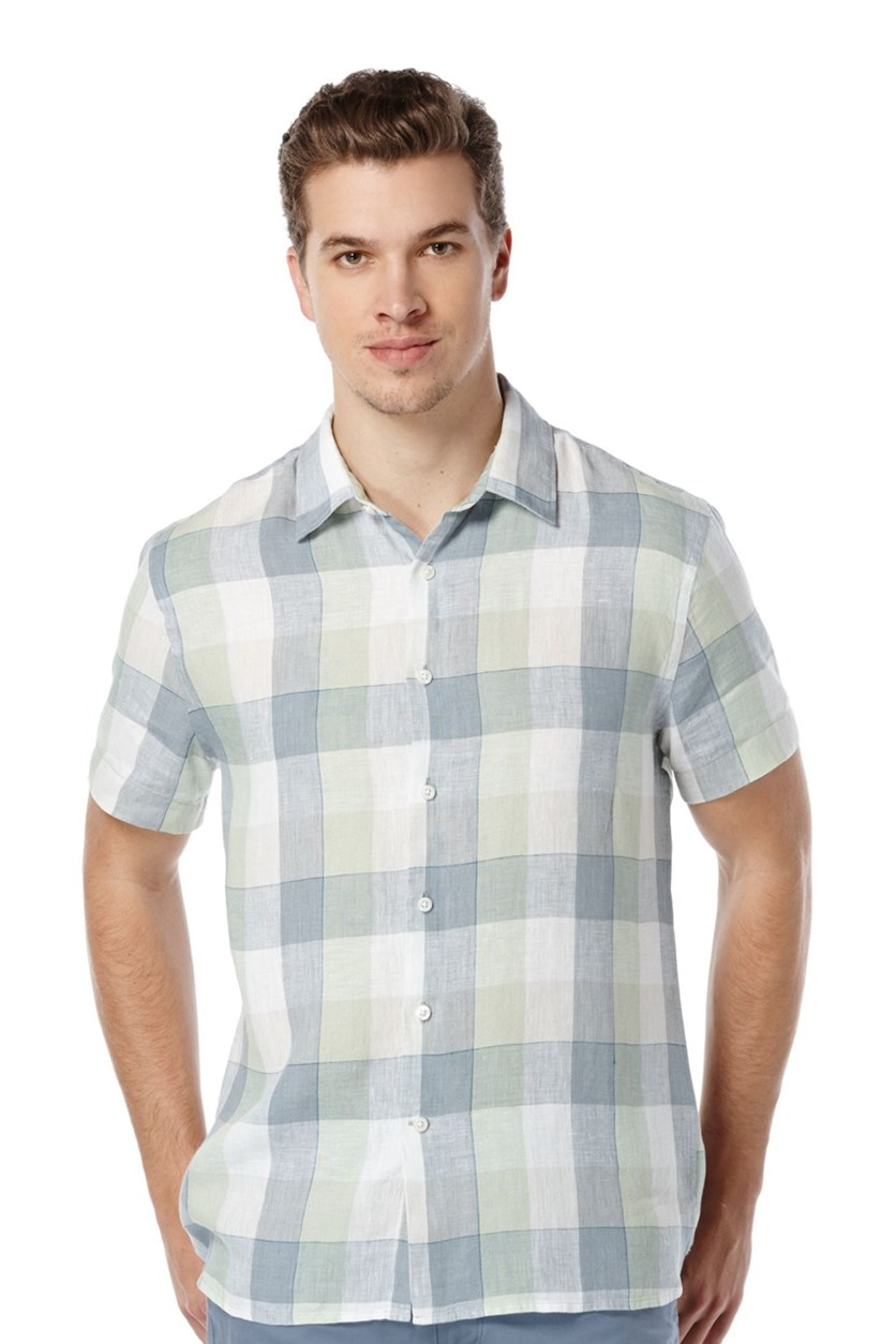 Buffalo-Check Shirt, Smoke Green