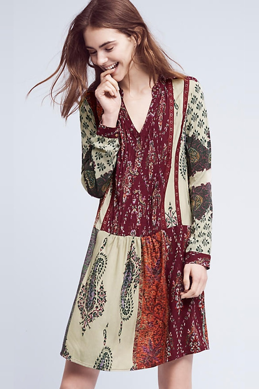 d9428f32e4ef Shop Anthropologie Tiny By Anthropologie Patchwork Print Shirt Dress ...