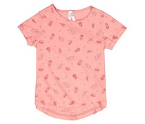 Lefties Kids Girls Graphic-Print Top, Peach