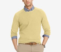 Izod Men's Waffle-Knit Crew-Neck Sweater, Sundress