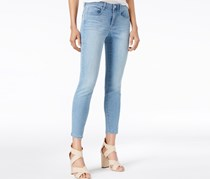 Maison Jules Embroidered Jeans, Medium Blue Wash