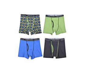 Perry Ellis Boys 4-Pack Boxer Briefs, Green/Blue/Navy