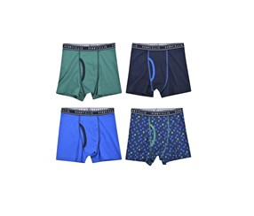 Perry Ellis Boy's 4-Pack Boxer Brief, Blue/Green/Navy