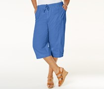 Karen Scott Plus Size Capri Pants, Regatta Blue