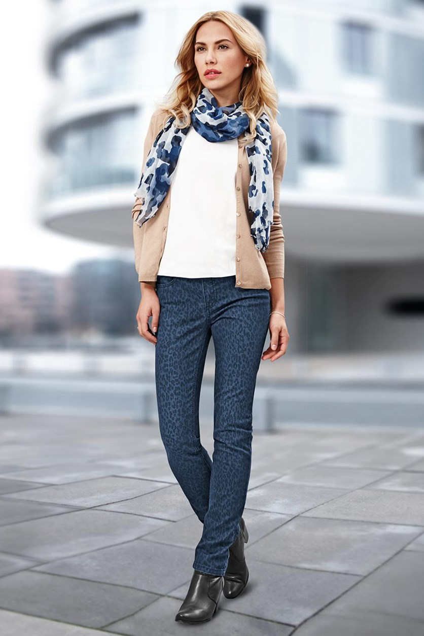 Women's Jeans, Slim fit, Printed