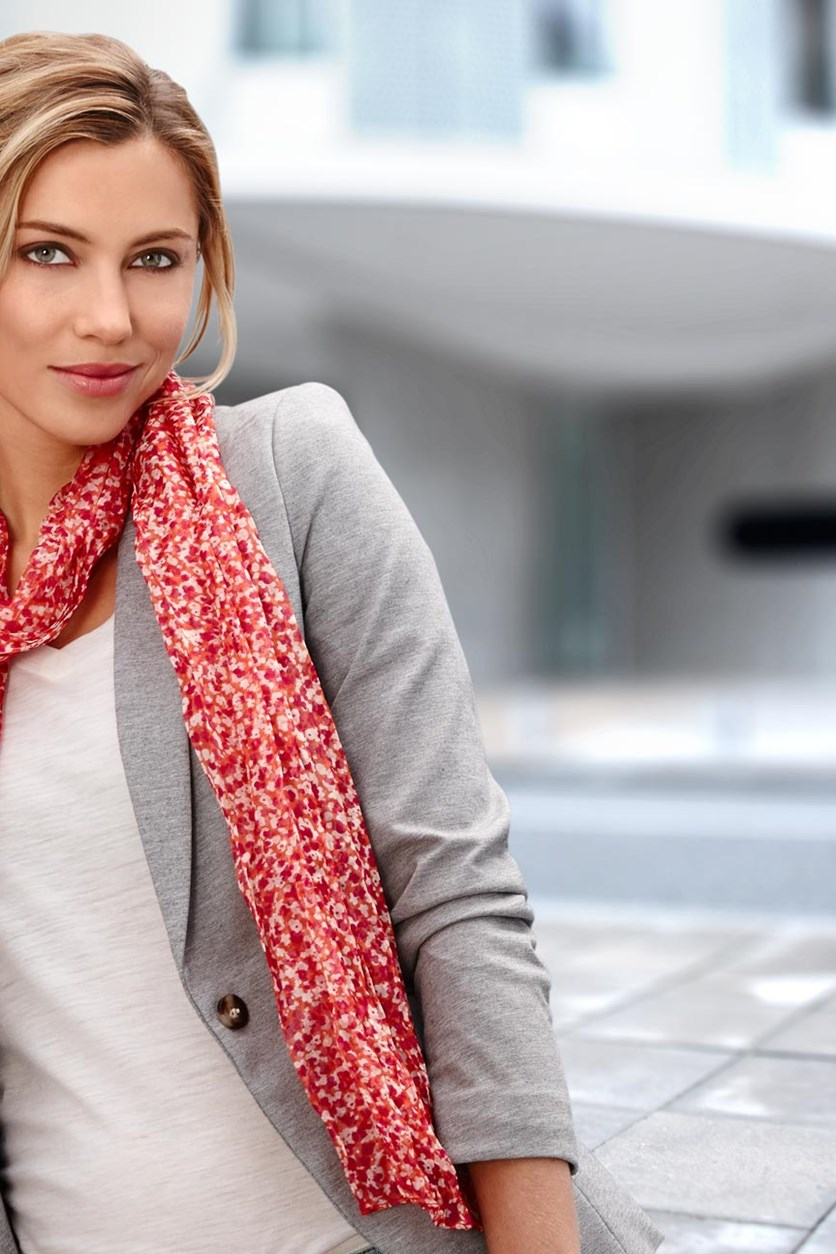 Women's Scarf, Crinkle, Polyester