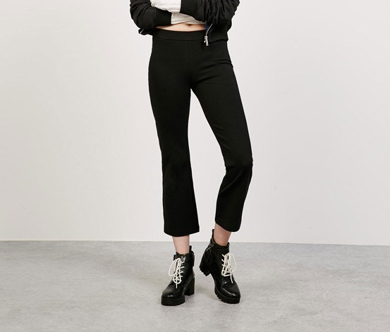 Kick Flare Trousers, Black