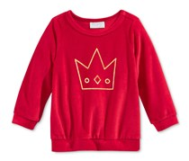 First Impressions Velour Crown Top, Tango Red