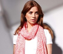 Women's Scarf, polyester, coral