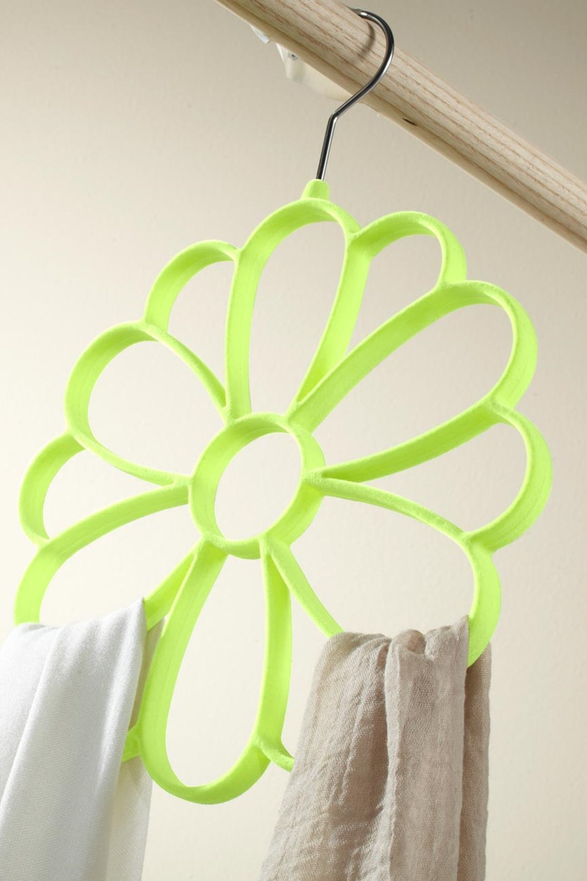 Scarf Hanger Flower, Yellow Green