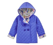 First Impressions Quilted Hooded Jacket, Ribbon Blue