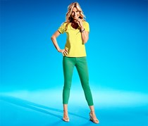 Women's Pants, 7/8 Slimfit, Green