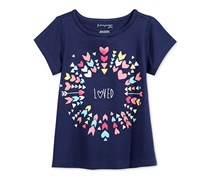 First Impressions Baby Girls Graphic-Print T-Shirt, Medieval Blue