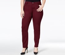 Style & Co. Plus Size Tummy-Control Jeans, Dried Plum