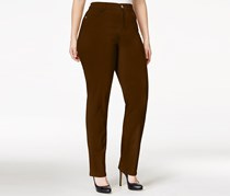 Style & Co. Plus Size Tummy-Control Slim-Leg Jeans, Rich Truffle