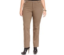 Style Co Plus Size Tummy Control Jeans, Warm Taupe